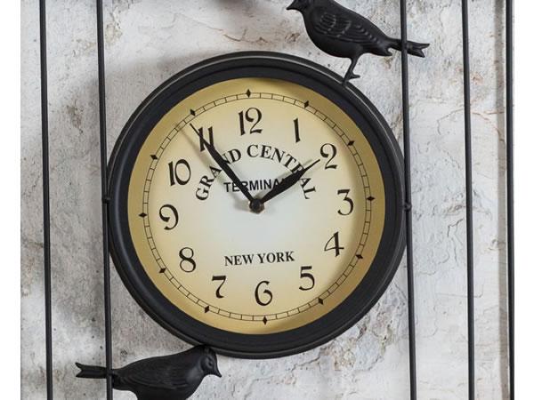 画像2: NEW YORK GRAND CENTRAL 鳥かごモチーフの掛け時計【カラー・イエロー】【カラー・ブラック】