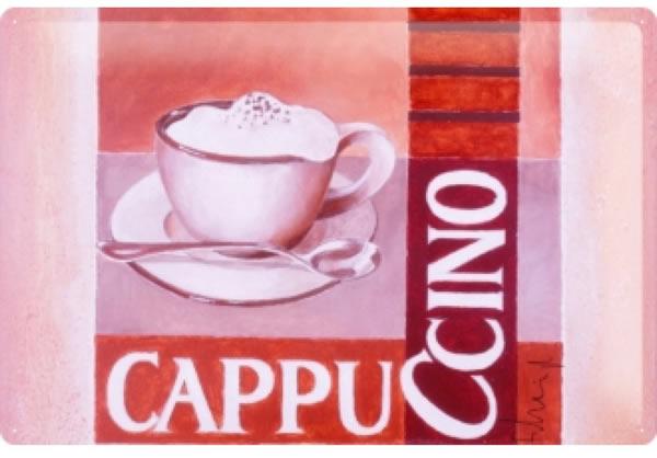 画像1: アンティーク風サインプレート イタリア カプチーノ Cappucino 30x20cm【カラー・マルチ】