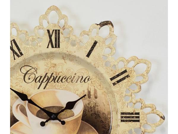 画像2: アンティーク加工カプチーノモチーフの掛け時計【カラー・イエロー】【カラー・ホワイト】