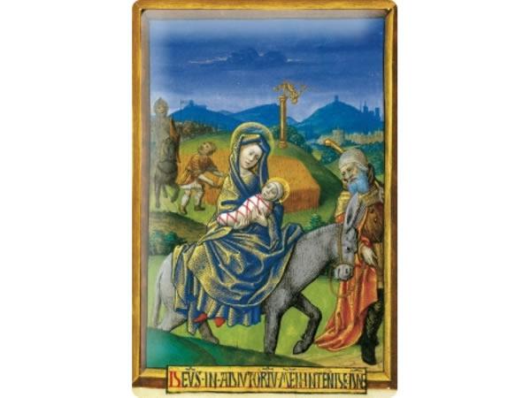 画像1: アンティーク風サインプレート 聖書からイエスとマリア 馬 30x20cm【カラー・グリーン】【カラー・ブルー】