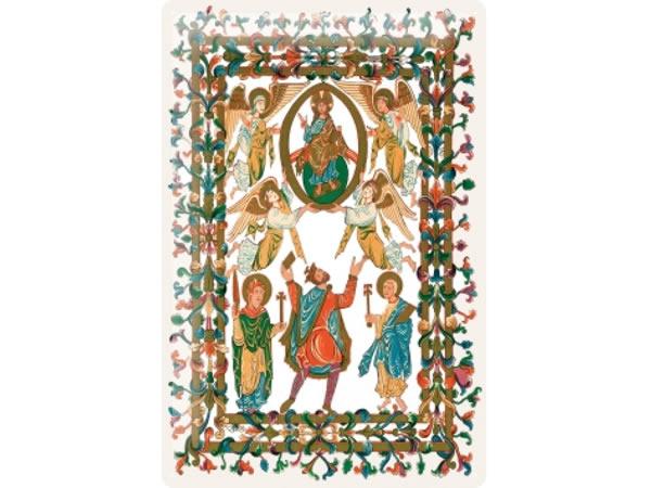 画像1: アンティーク風サインプレート 聖書から神と天使たち 30x20cm【カラー・グリーン】【カラー・イエロー】【カラー・オレンジ】【カラー・マルチ】