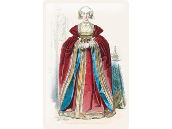 画像1: アンティーク風サインプレート 肖像画 ブルジョワ 赤いドレスの婦人 30x20cm【カラー・レッド】【カラー・イエロー】【カラー・ホワイト】【カラー・ブルー】