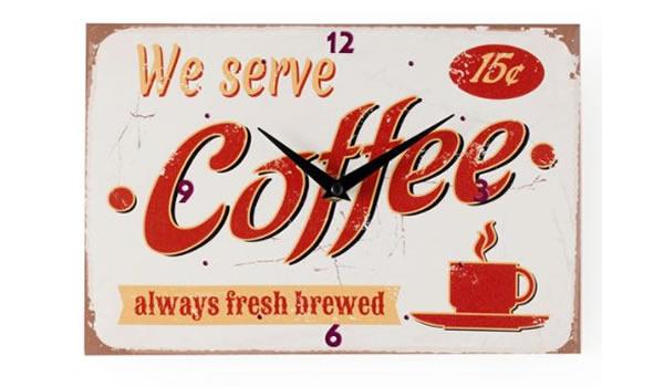 画像1: コーヒーがモチーフの掛け時計【カラー・レッド】【カラー・ホワイト】