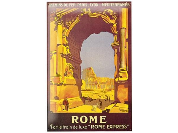 画像1: アンティーク風サインプレート イタリア ローマ コロッセオ Colosseo Roma 30x20cm【カラー・ブルー】【カラー・イエロー】