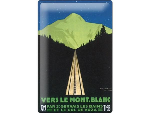 画像1: アンティーク風サインプレート アルプス・モンブランへ行こう アンティーク広告 30x20cm【カラー・グリーン】【カラー・ブラック】【カラー・ブルー】