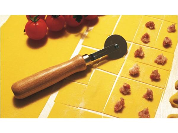 画像1: 手打ちパスタ用 回転式直線パスタカッター
