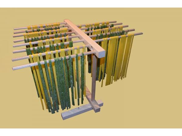画像1: 手打ちパスタ用 折りたたみ式 パスタ乾燥器 36 x 30 cm