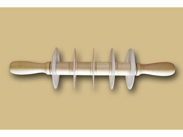 画像1: 手打ちパスタ用麺棒 幅可動式パスタカッター  直線
