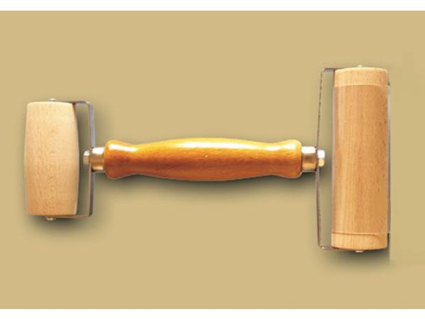 画像1: 手打ちパスタ用ハンドル付きダブル麺棒 ピザ、デザートに 70 & 110 mm