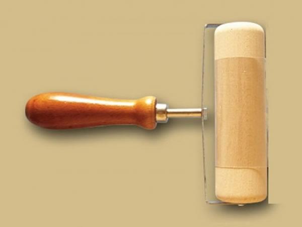 画像1: 手打ちパスタ用ハンドル付き麺棒 ピザ、デザートに 150 mm