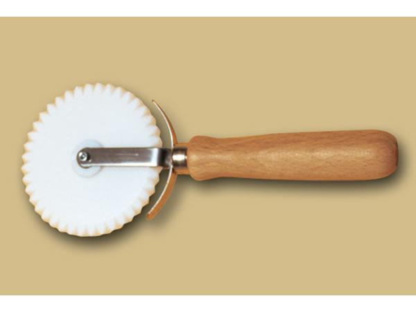 画像1: 手打ちパスタ用 回転式波型カッター ピザ、ケーキに 88 mm