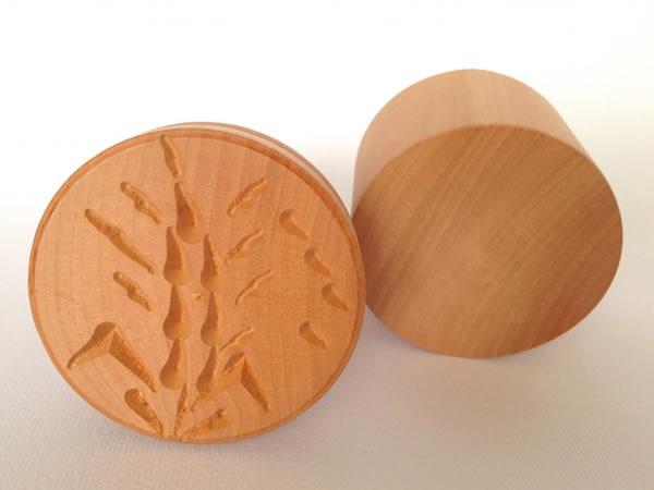 画像1: 手打ちパスタ用 コルツェッティ用型 大麦柄 & 平型 各1個 径 5.3 cm
