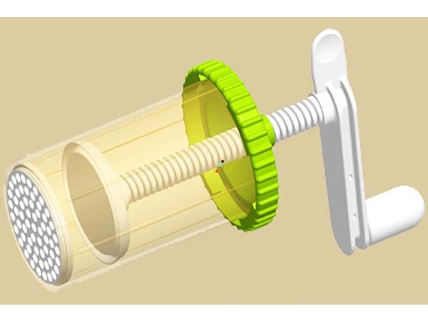 画像1: 手打ちパスタ用ハンディ・トルキエット 3種 パスタ スパゲッティ、マカロニメーカー + デコレーションセット