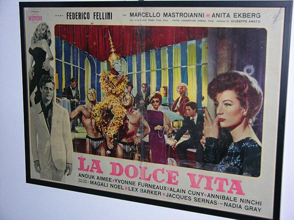 画像1: イタリア 映画 アンティークポスター La dolce vita (1960) 甘い生活 フェデリコ フェリーニ 50 x 70 cm