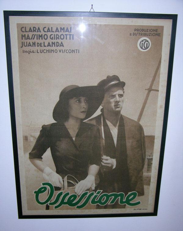 画像1: イタリア 映画 アンティークポスター Ossessione (1942年) 郵便配達は二度ベルを鳴らす ルキノ・ヴィスコンティ 50 x 70 cm