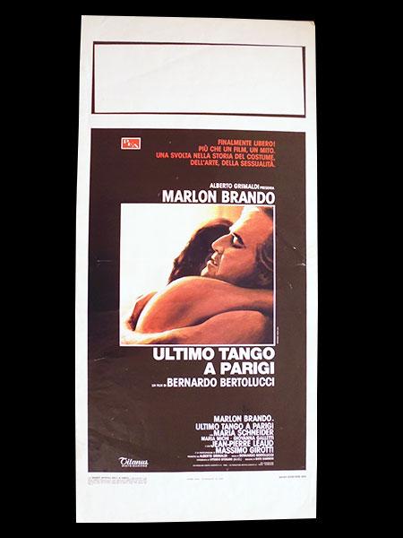 画像1: イタリア 映画 アンティークポスター Ultimo tango a Parigi (1972年) ラストタンゴ・イン・パリ ベルナルド・ベルトルッチ 33 x 70 cm locandine