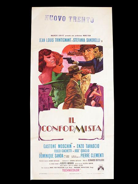 画像1: イタリア 映画 アンティークポスター Il conformista (1970年) 暗殺の森 ベルナルド・ベルトルッチ 33 x 70 cm locandine
