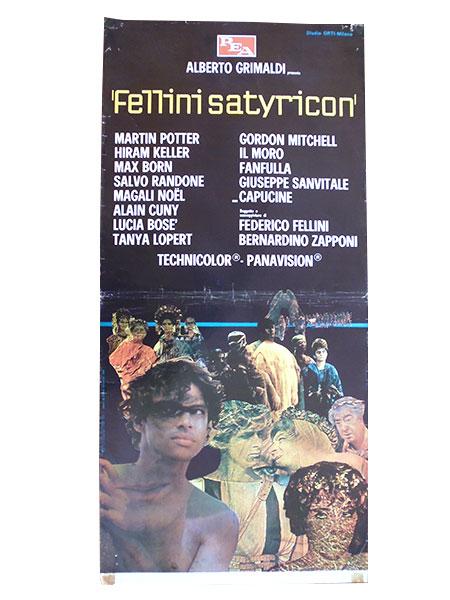 画像1: イタリア 映画 アンティークポスター FELLINI SATYRICON (1969) サテリコン フェデリコ フェリーニ 33 x 70 cm locandine