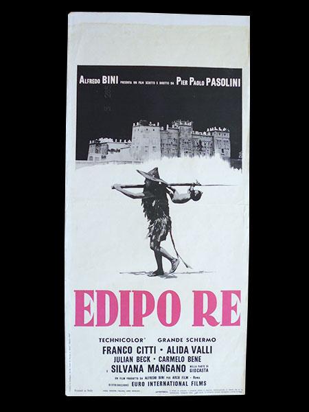 画像1: イタリア 映画 アンティークポスター Edipo Re (1967年) アポロンの地獄 ピエル・パオロ・パゾリーニ アリダヴァリ 33 x 70 cm locandine
