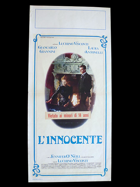 画像1: イタリア 映画 アンティークポスター L'innocente (1976年) イノセント ルキノ・ヴィスコンティ 33 x 70 cm locandine