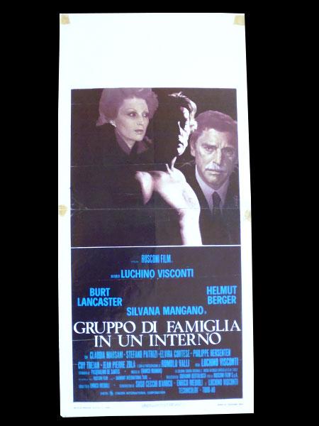 画像1: イタリア 映画 アンティークポスター Gruppo di famiglia in un interno (1974年) 家族の肖像 ルキノ・ヴィスコンティ 33 x 70 cm locandine