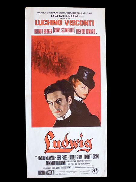 画像1: イタリア 映画 アンティークポスター Ludwig (1973年) ルードウィヒ神々の黄昏 ルキノ・ヴィスコンティ 33 x 70 cm locandine