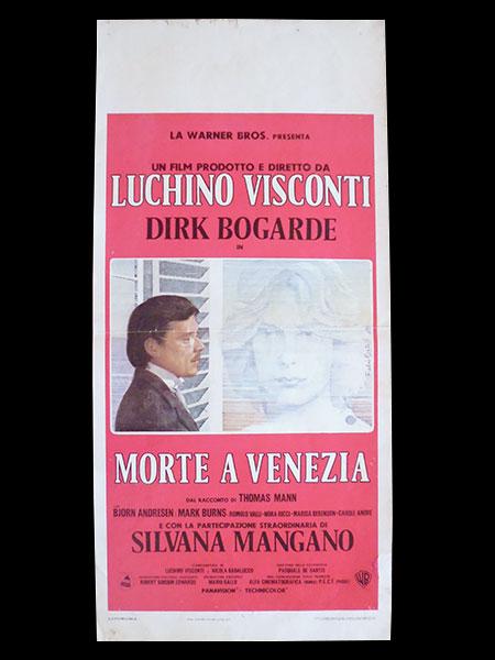 画像1: イタリア 映画 アンティークポスター La morte a Venezia (1971) ベニスに死す ルキノ・ヴィスコンティ 33 x 70 cm