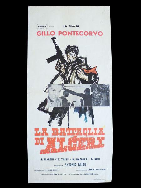 画像1: イタリア 映画 アンティークポスター La battaglia di Algeri (1966年) アルジェの戦い ジッロ・ポンテコルヴォ 33 x 70 cm