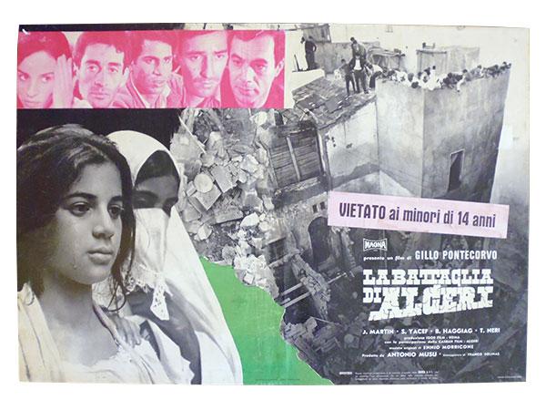 画像1: イタリア 映画 アンティークポスター La battaglia di Algeri (1966年) アルジェの戦い ジッロ・ポンテコルヴォ 50 x 70 cm FOTO BUSTE
