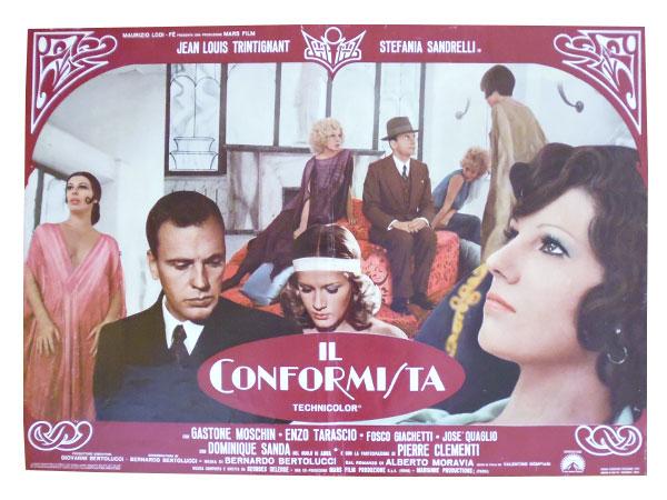 画像1: イタリア 映画 アンティークポスター Il conformista (1970年) 暗殺の森  ベルナルド・ベルトルッチ 50 x 70 cm FOTO BUSTE