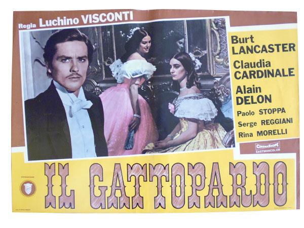 画像1: イタリア 映画 アンティークポスター Il gattopardo (1963年) 山猫 ルキノ・ヴィスコンティ 50 x 70 cm FOTO BUSTE