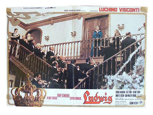 画像1: イタリア 映画 アンティークポスター Ludwig (1973年) ルードウィヒ神々の黄昏 ルキノ・ヴィスコンティ 50 x 70 cm FOTO BUSTE