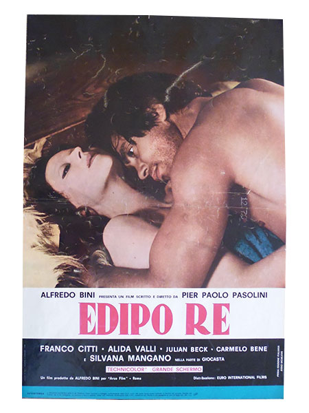 画像1: イタリア 映画 アンティークポスター Edipo Re (1967年) アポロンの地獄 ピエル・パオロ・パゾリーニ アリダヴァリ 50 x 70 cm FOTO BUSTE
