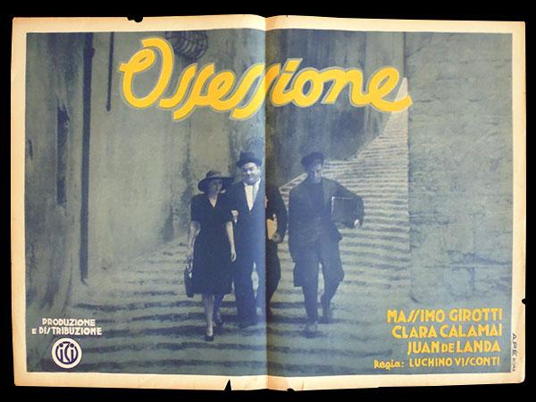 画像1: イタリア 映画 アンティークポスター Ossessione (1942年) 郵便配達は二度ベルを鳴らす ルキノ・ヴィスコンティ 50 x 70 cm manifesti