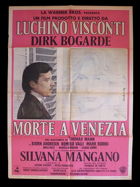 画像1: イタリア 映画 アンティークポスター La morte a Venezia (1971) ベニスに死す ルキノ・ヴィスコンティ 100 x 140 cm manifesti