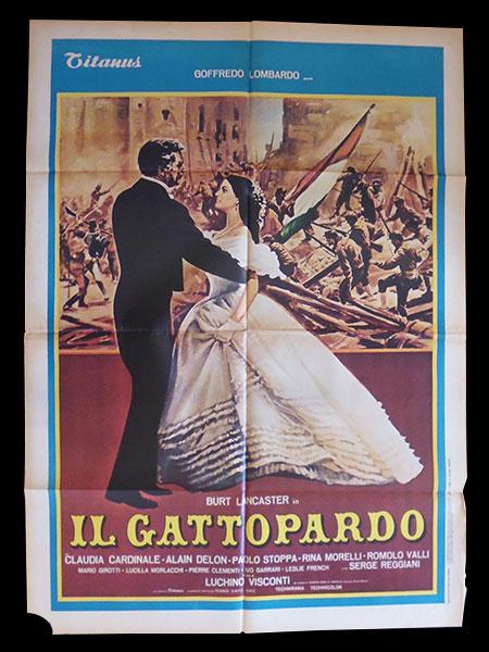 画像1: イタリア 映画 アンティークポスター Il gattopardo (1963年) 山猫 ルキノ・ヴィスコンティ 100 x 140 cm manifesti