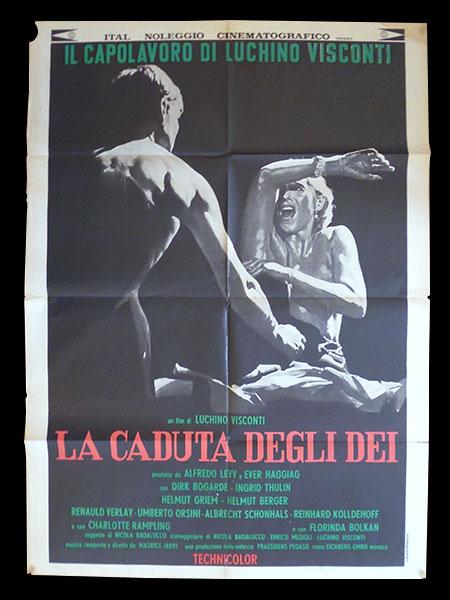 画像1: イタリア 映画 アンティークポスター La Caduta degli dei(1969) 地獄に堕ちた勇者ども ルキノ・ヴィスコンティ 100 x 140 cm manifesti