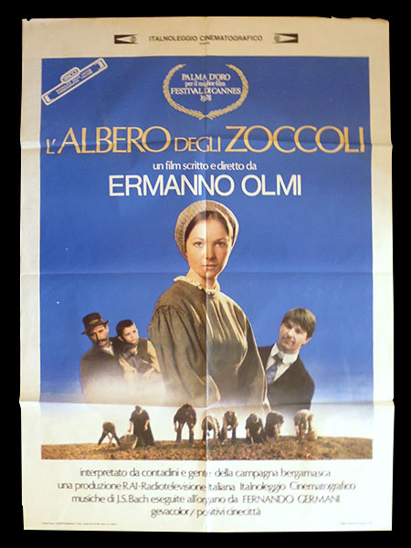 画像1: イタリア 映画 アンティークポスター L'albero degli zoccoli (1978年) 木靴の樹 エルマンノ・オルミ 100 x 140 cm manifesti
