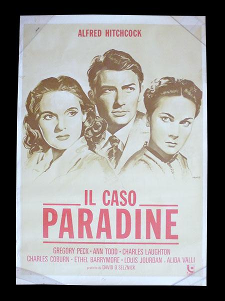 画像1: イタリア 映画 アンティークポスター Il caso Paradine (1947年) パラダイン夫人の恋 アルフレッド・ヒッチコック アリダヴァリ 100 x 140 cm manifesti
