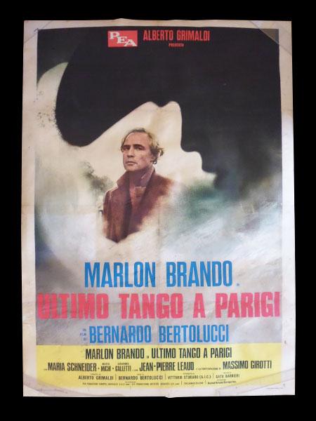 画像1: 【希少】イタリア 映画 アンティークポスター Ultimo tango a Parigi (1972年) ラストタンゴ・イン・パリ ベルナルド・ベルトルッチ 100 x 140 cm manifesti