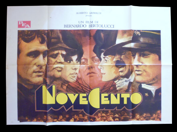 画像1: イタリア 映画 アンティークポスター Novecento (1976年) 1900年  ベルナルド・ベルトルッチ 100 x 140 cm manifesti