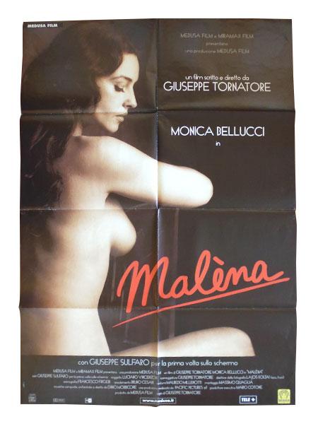 画像1: イタリア 映画 アンティークポスター Malena (2000年) マレーナ ジュゼッペ・トルナトーレ モニカ・ベルッチ  100 x 140 cm manifesti