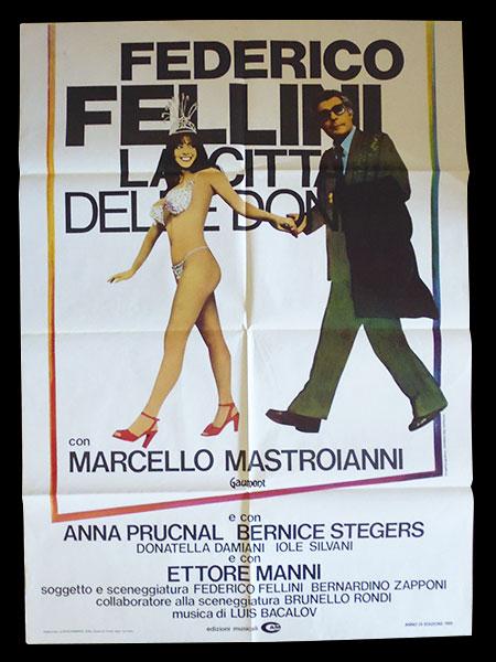 画像1: イタリア 映画 アンティークポスター La citta' delle donne (1980年) 女の都 フェデリコ・フェリーニ マルチェロ・マストロヤンニ  100 x 140 cm manifesti