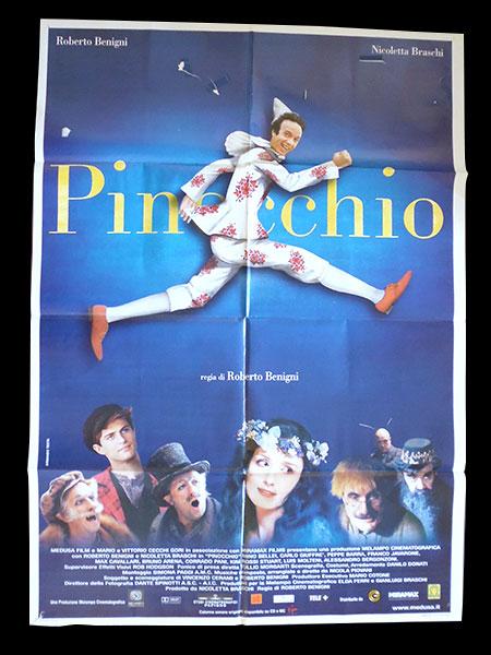 画像1: イタリア 映画 アンティークポスター Pinocchio (2002年) ピノッキオ ピノキオ ロベルト・ベニーニ ニコレッタ・ブラスキ ゴールデンラズベリー賞  100 x 140 cm manifesti