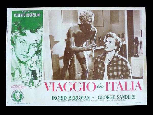 画像1: イタリア 映画 アンティークポスター Viaggio in Italia (1954年) イタリア旅行 ロベルト・ロッセリーニ イングリッド・バーグマン 30 x 50cm FOTO BUSTE