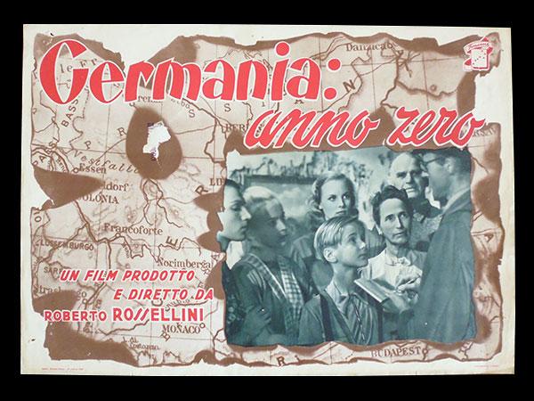 画像1: イタリア 映画 アンティークポスター Germania anno zero(1948年)ドイツ零年 ロベルト・ロッセリーニ  30 x 40cm FOTO BUSTE