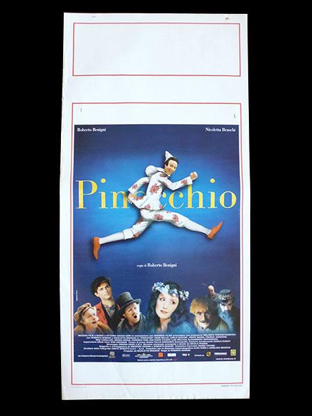 画像1: イタリア 映画 アンティークポスター Pinocchio (2002年) ピノッキオ ピノキオ ロベルト・ベニーニ ニコレッタ・ブラスキ ゴールデンラズベリー賞  33 x 70 cm locandine