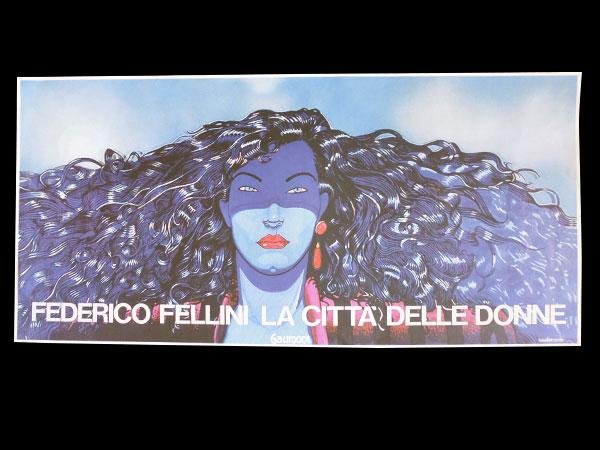画像1: イタリア 映画 アンティークポスター La citta' delle donne (1980年) 女の都 フェデリコ・フェリーニ マルチェロ・マストロヤンニ  33 x 70 cm locandine