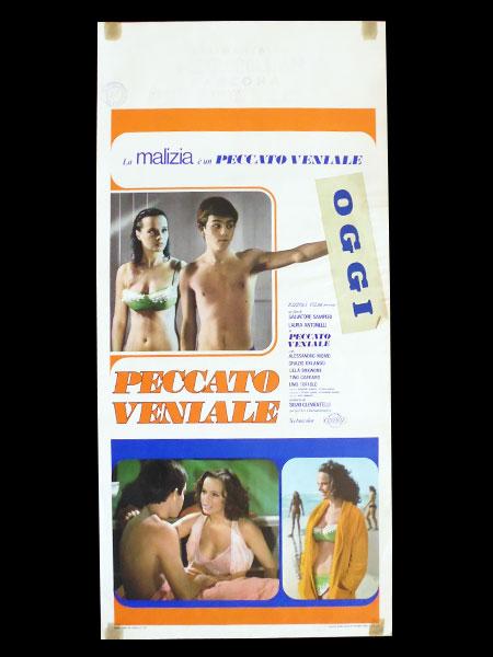 画像1: イタリア 映画 アンティークポスター  Peccato veniale (1974年) 続・青い体験 サルヴァトーレ・サンペリ 33 x 70 cm locandine