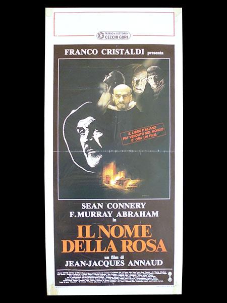 画像1: イタリア 映画 アンティークポスター  In nome della rosa 薔薇の名前 ジャン=ジャック・アノー ウンベルト・エーコ ショーン・コネリー クリスチャン・スレーター 33 x 70 cm locandine